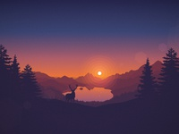 Lakeside sunset 2560x1660
