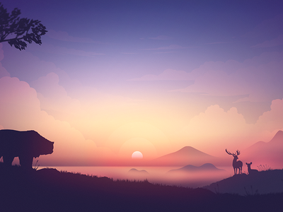 Sunrise wallpaper sunset sunrise vector nature landscape