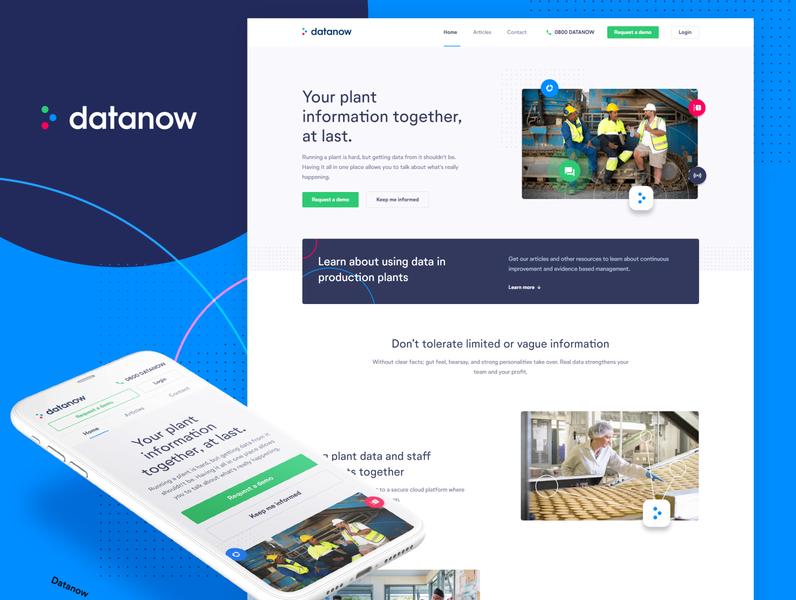 Datanow brand and website refresh developement website branding
