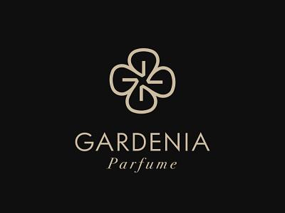 Gardenia Parfume Logo flower parfume salon beauty luxury logo elegant monogram logotype logo