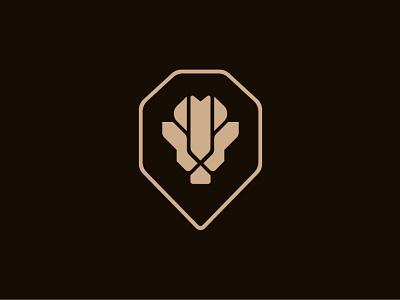 Lion Head Geometric Logo mark animals logo inspirations lions lion logo simply geometric minimal lion head lion