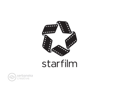 Starfilm Logo production video theater shooting producers movies film star