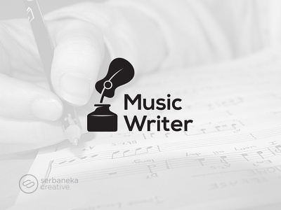 Music Writers Logo rock pop song song writers music writers writer writers music logo