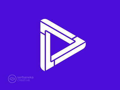 One Play Logo logo inspirations shape digital app app icon icon media player play one