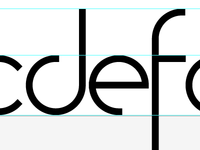 My first typeface