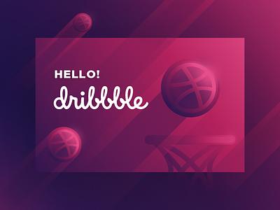 Hello Dribbble ui shot debut hi dribbble hello
