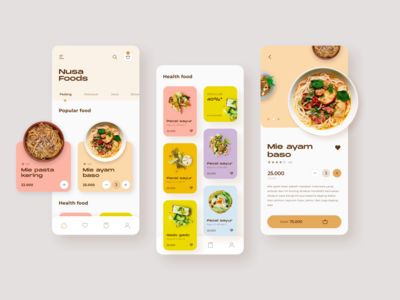 Nusa Foods App Design