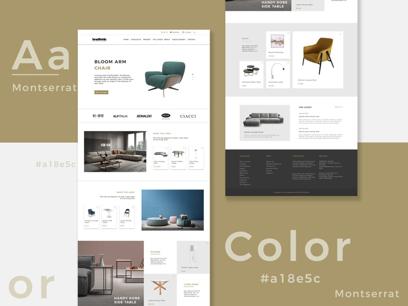 Furniture website design design ux ui web