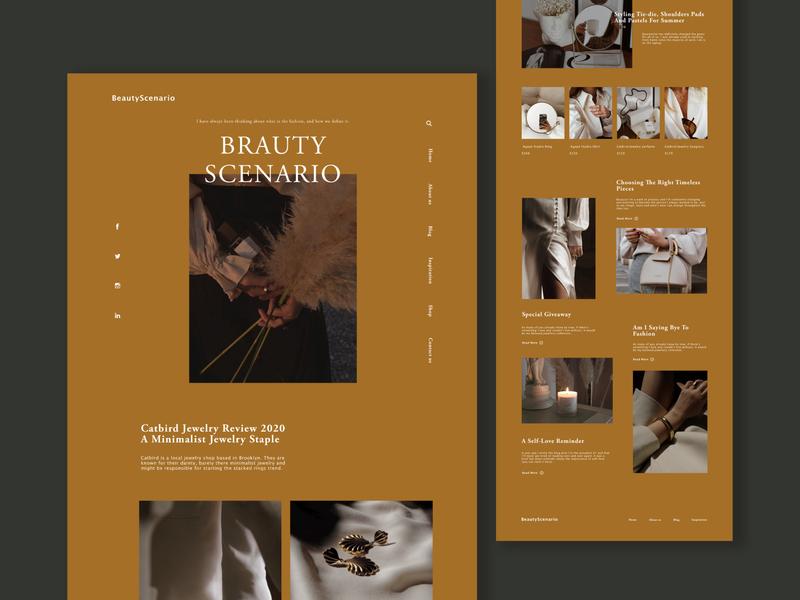 Minimalism Fashion Landing Page ui  ux website concept website design
