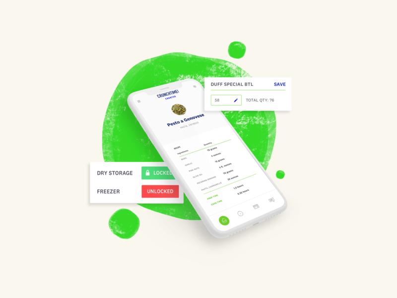 CrunchTime! product illustrations brand interface product web illustration ui design