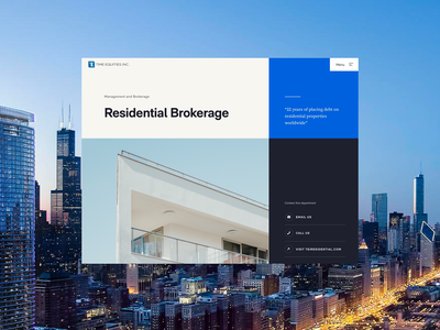 Time Equities - Services Page real estate ux interface product web design ui