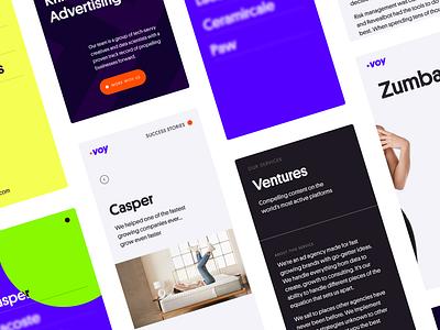 Voy Media - mobile design system mobile ui mobile app ios mobile typography interface web design