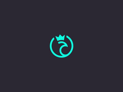 King Peacock bird green icon branding identity logo