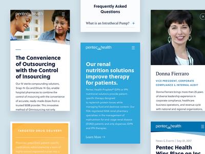 Pentec Health mobile blue healthcare health design web responsive ios mobile ui