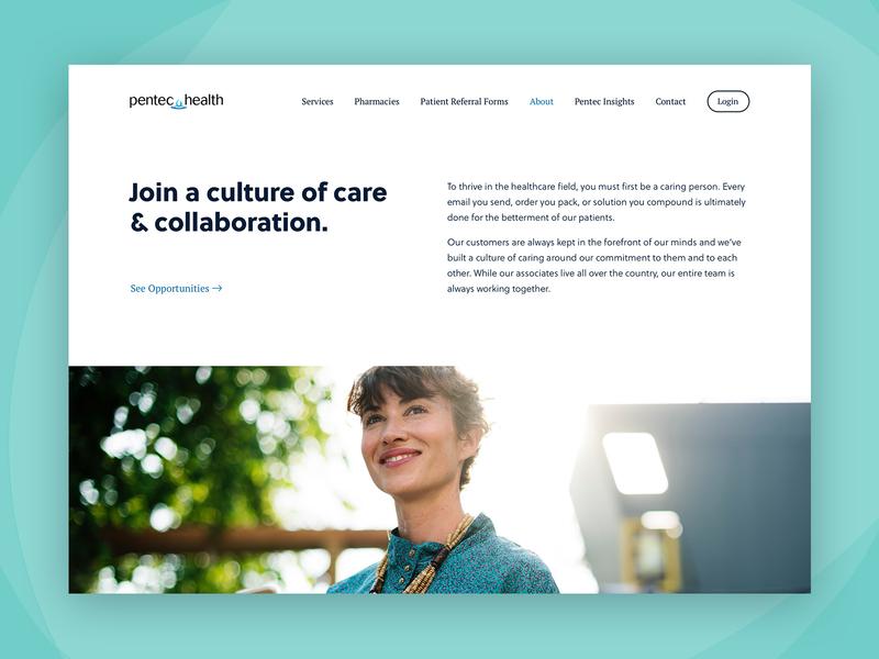 Pentec Health - Careers careers healthcare health desktop web design web design ui
