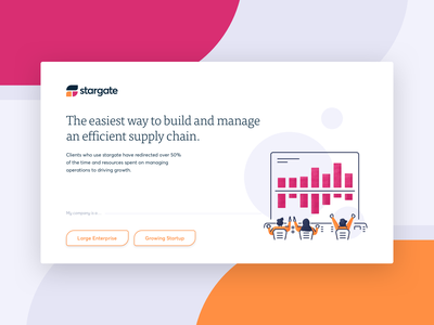 Union Crate - Stargate supply chain illustration web design startup unioncrate interface website ui  ux