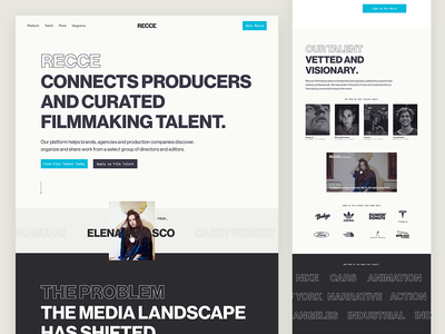 Recce - Product Design identity interface web product ui design