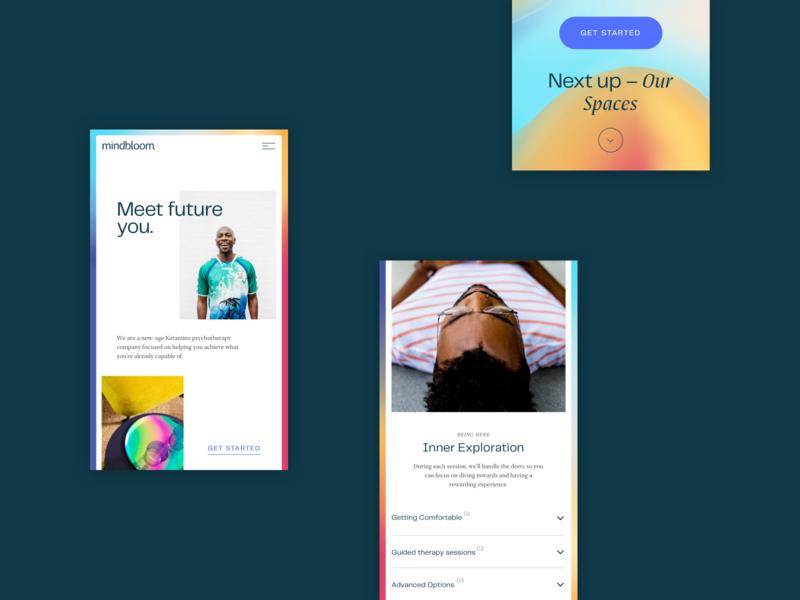 Mindbloom - mobile screens design interface product mobile app design identity branding brand mobile design ui mobile