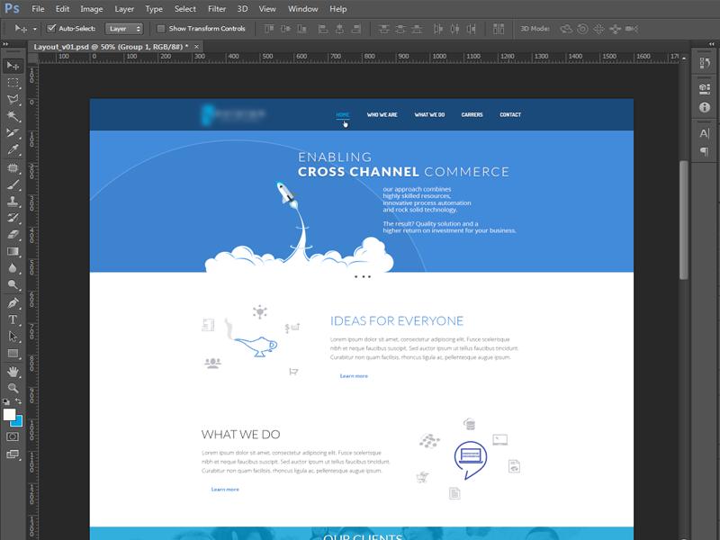 UI layout website ui weblayout flat