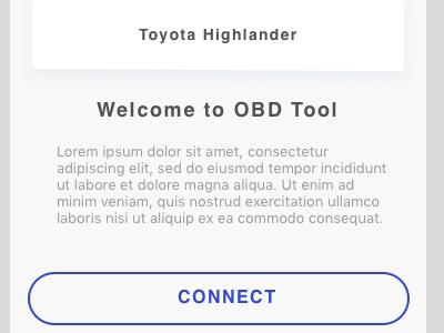 OBD Car diagnostic app workflow