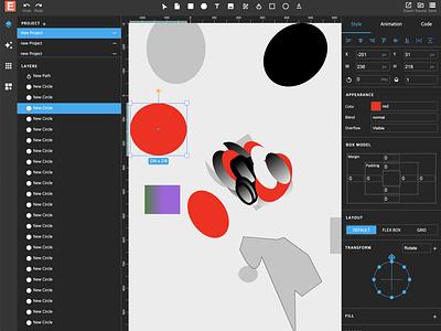 Fantastic Web Design Tool - EasyLogic Studio studio logo ui design editor gradient svg css graphic design