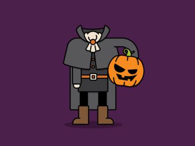 Headless Horseman outline pumpkin headless horseman halloween
