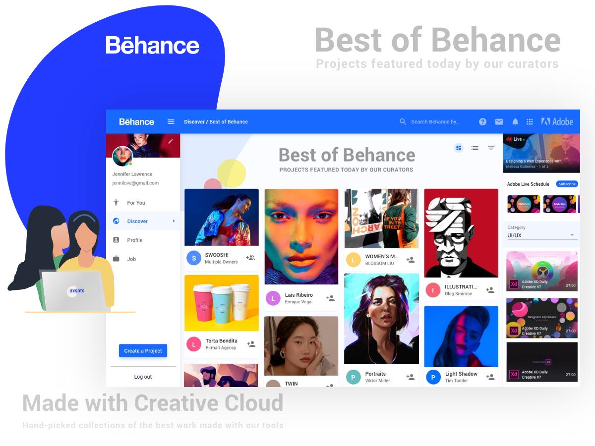 Behance Re Design by R Sathishkumar on Dribbble