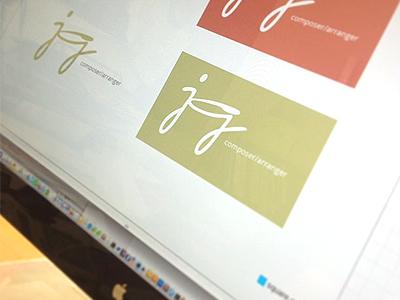 Composer Logo jg logo branding music score composer arranger