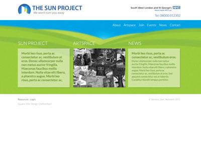 Sun Project website design web