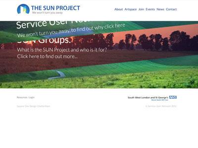 Sun Project 2 website design web