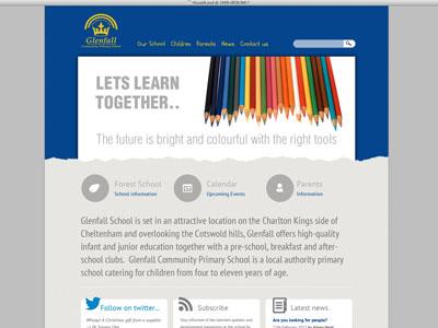 Glenfall School school website education