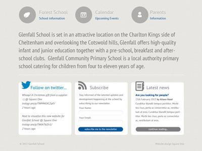 Glenfall School footer school website education