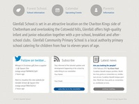 Glenfall School footer