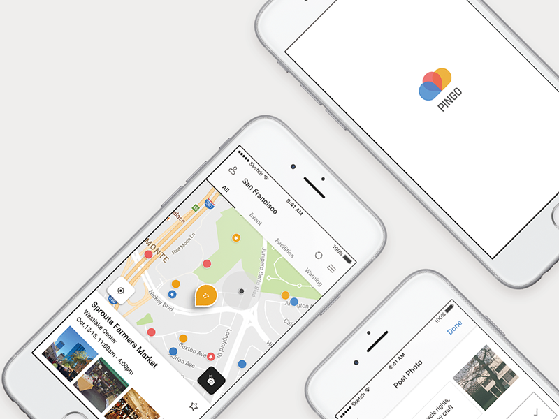 PINGO: Real-time local information sharing app by Dahye Seol on Dribbble