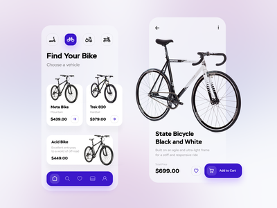 Bike Store App mobile app bike bycicle store shop