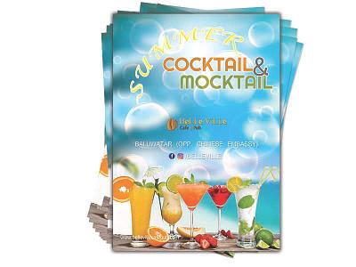 Summer Cocktail chill^-^ juice brochuredesign posterdesign flyerdesign design brochure cocktail template poster flyer