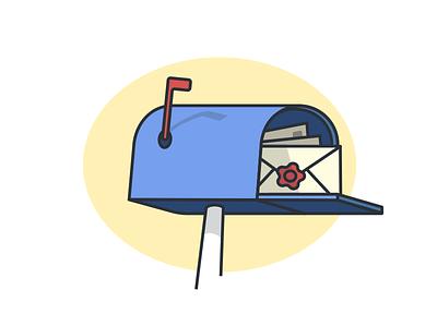 Dooock - Alerts to Mail box illustration yellow blue box mail alert dooock