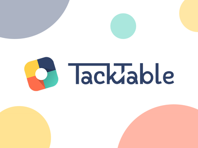 TackTable – logotype identity logo startup project colored tacktable logotype