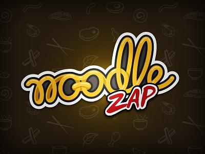 Noodle Zap - Logotype food japan manga red yellow ramen illustration zap noodle logo logotype