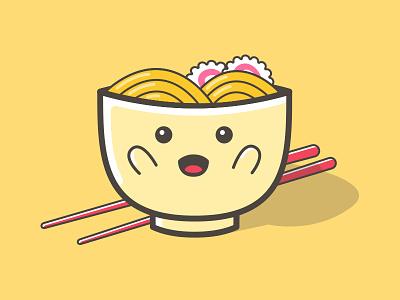 Noodle Zap - Cutty Mascot kawai happy manga japan illustration meal food zap noodle mascot cute