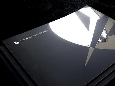 Fuzlin brandbook ⇢ 🖨 typography space rules product print logotype launcher illustration guidelines geometry color brandbook
