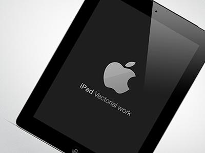 New iPad - Free use apple vectorial free black white tech new ipad