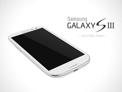 Galaxy S3 White - vectorial concept design samsung galaxy s3 vectorial concept design white
