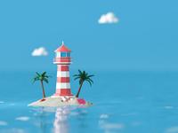 Lighthouse 3D Visual
