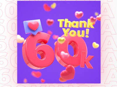 60k Instagram Followers Visual socialbakers c4d 3d instagram post instagram