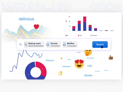 Socialbakers - Wrap Up 2020 dashboard design socialbakers after effects motion branding ui logo illustration animation