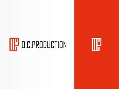 O. C. Production typography vector branding design logo