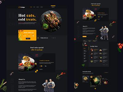 Fodige _ Restaurant Website Design agency website ui food dinner cook chef app lockup eating mobile maps illustration calendar interface restaurant product design minimal concept animation