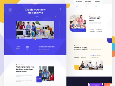 Digital agency landing page marketing agency clean character 3d webdesigner agency landing page ux design digital website agency website digital agency ux minimal typography animation branding web illustration website landing page design