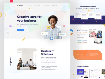 Landing page design concept exploration icons layout design ux designer website designer ux design ui design website design interface portfolio clean seo agency marketing agency typography animation web illustration website design landing page